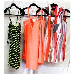 Lot [3] PIECES ASSORTED CLOTHING: [1] Kayla sleeveless top, size XS, [1] Drew sleeveless top, Size X