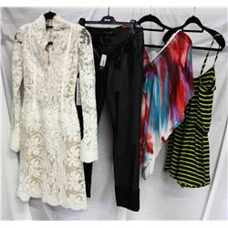 Lot [4] PIECES ASSORTED CLOTHING: [1] Drew Hailey jumper striped, size S, [1] Drew v neck blouse pri