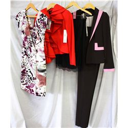 Lot [4] PIECES ASSORTED CLOTHING: [1] Two tone 3 piece set, size 4, [1] Black lace skirt, size 4, [1