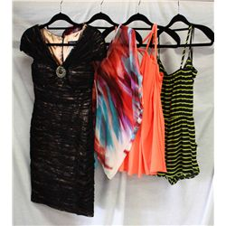Lot [4] PIECES ASSORTED CLOTHING: [1] Drew Jodee sleeveless top, Size S, [1] Drew V Neck blouse, Siz