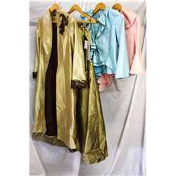 Lot [4] PIECES ASSORTED CLOTHING: [1] Pink side tier, size 6, [1] Ruffle jacket, size 6, [1]  Off sh