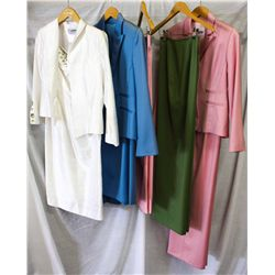 Lot [5] PIECES ASSORTED CLOTHING: [1] Pink jacket, size 6, [1] Green pants, size 6, [1] Pink capris