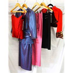 Lot [5] PIECES ASSORTED CLOTHING: [1] Animal print bolero, [1] Black skirt, size 6, [1] Pink capris