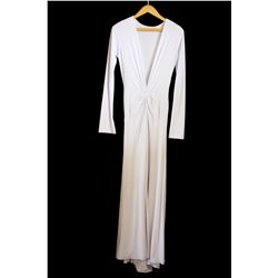 Lot [1] DRESS: [1] Juan Carlos Pinera white gown, size small
