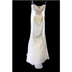 Lot [1] DRESS: [1] Jovani ivory dress, size 2