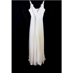 Lot [1] DRESS: [1] Ivory lace halter chiffon, size M