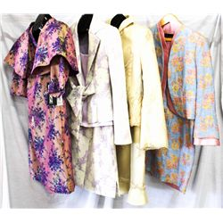 Lot [4] PIECES ASSORTED CLOTHING: [1] Pink jacket and dress, size 10, [1] Embroidered jacket with me