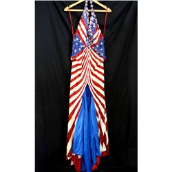Lot [1] Dress: [1] American flag motif sequin dress, size 6