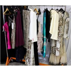 Lot [12] Pieces ASSORTED CLOTHING: [1]Strapless organza ruffle,  dress size 4, [1] Bustier Dress, si