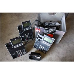 LOT NEC CORDED PHONES AND PANASONIC CORDLESS PHONES