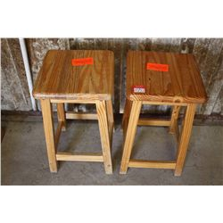 LOT 2 WOODEN BAR STOOLS