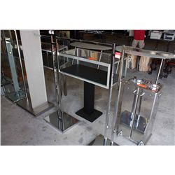 LOT 2 ADJUSTABLE METAL CLOTHING RACKS