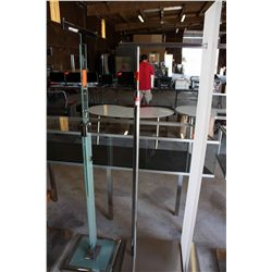 LOT 2 GLASS AND METAL CLOTHING RACKS