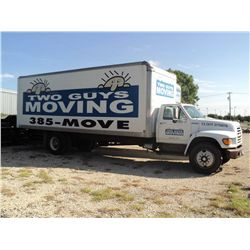 1998 FORD F SERIES BOX TRUCK