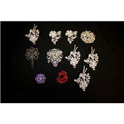 LOT 11 BROACHES AND PINS