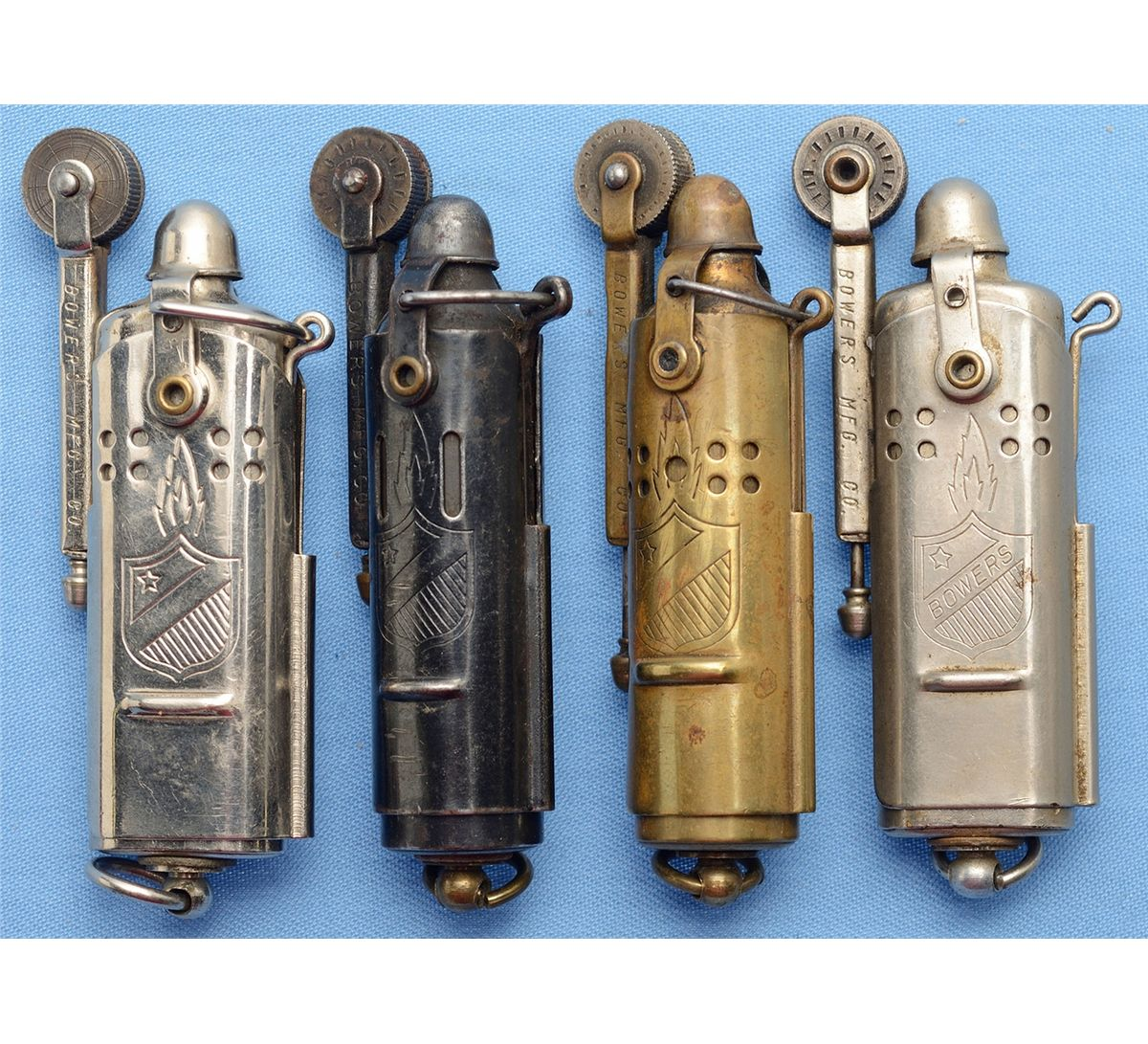 Four Bower WWI Style Trench Lighters