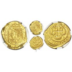 Mexico City, Mexico, cob 8 escudos, 1714J, Royal dies (extremely rare), from the 1715 Fleet, encapsu