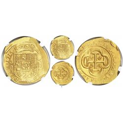 Mexico City, Mexico, cob 8 escudos, 1714J, from the 1715 Fleet, encapsulated NGC MS 62.