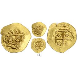 Mexico City, Mexico, cob 1 escudo, 1707(J), from the 1715 Fleet, very rare (missing in State of Flor