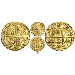 Lima, Peru, cob 4 escudos, 1700H, from the 1715 Fleet.
