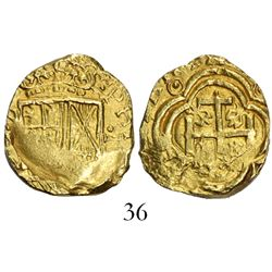 Bogota, Colombia, cob 2 escudos, Philip IV, assayer not visible (style of assayer A to left, ca. 163
