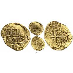 Bogota, Colombia, cob 2 escudos, (17)04/3, from the 1715 Fleet, rare.