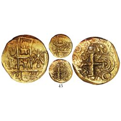 Bogota, Colombia, 2 escudos, 1709, balls at ends of cross, from the Feversham (1711), encapsulated N