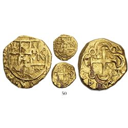Bogota, Colombia, cob 2 escudos, Philip V, no assayer (Arce, 1716-1717), rare as from the 1733 Fleet