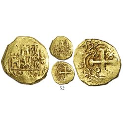 Bogota, Colombia, cob 2 escudos, (1)731S, date in three digits, possibly from the 1733 Fleet.