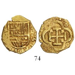 Seville, Spain, cob 2 escudos, Philip III, assayer G (circa 1619).