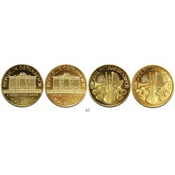 Lot of 2 Austrian 100 euros, 2004, Vienna Philharmonic (each 1 oz .9999 gold).