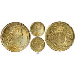 Brazil (Rio mint), 6400 reis, Joao Prince Regent, 1808/7-R, encapsulated NGC UNC details / surface h