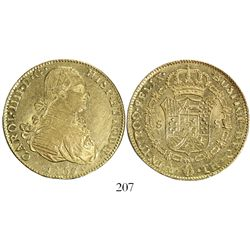 Mexico City, Mexico, bust 8 escudos, Charles IV, 1807TH.