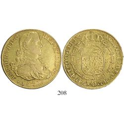 "Mexico City, Mexico, bust 8 escudos, Ferdinand VII (transitional ""armored"" bust), 1808TH."