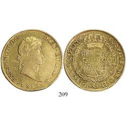 Mexico City, Mexico, bust 8 escudos, Ferdinand VII, 1816JJ.
