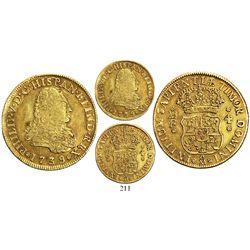 Mexico City, Mexico, bust 4 escudos, Philip V (first bust), 1739MF, ex-Eliasberg, rare.
