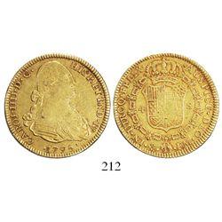 Mexico City, Mexico, bust 4 escudos, Charles IV, 1795FM.