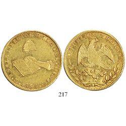 Guanajuato, Mexico, 8 escudos 1862YE.
