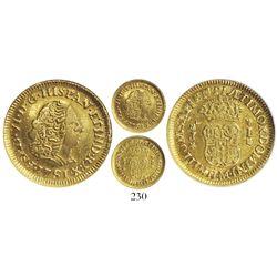 Lima, Peru, bust 1 escudo, Ferdinand VI, 1751J, encapsulated NGC VF 35, very rare.