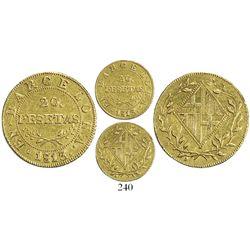 Barcelona, Spain, 20 pesetas, 1813.