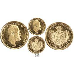 Sweden, 20 kronor, Oscar II, 1900-EB.