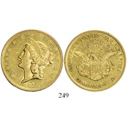 USA (Philadelphia mint), $20 coronet Liberty, 1850.