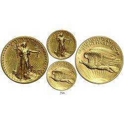 USA (Philadelphia mint), $20 St. Gaudens, 1907, high relief, wire rim.