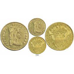 USA (Philadelphia mint), $10 capped-bust Liberty, 1799, large-stars obverse.