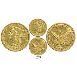 USA (Charlotte mint), $5 coronet Liberty, 1849-C.