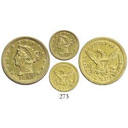 USA (Charlotte mint), $2.50 coronet Liberty, 1847-C.