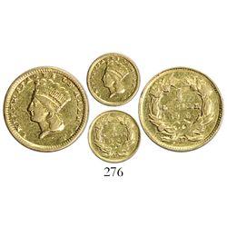 USA (Dahlonega mint), $1 Indian princess, 1859-D.