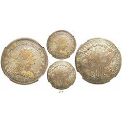 USA (Philadelphia mint), $1 Liberty, 1798, large eagle, pointed 9, 4 berries, encapsulated NGC VF 20