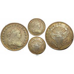 USA (Philadelphia mint), $1 Liberty, 1799, perfect date, small berries.