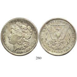 USA (Carson City mint), $1 Morgan, 1889-CC, rare.